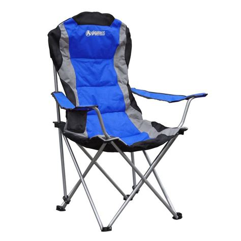 shop gigatent blue steel folding cing chair at lowes