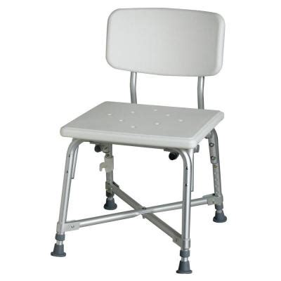 medline bath safety bariatric bath chair with back