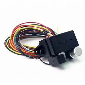12v 10 Circuit Basic Wire Harness Fuse Box Street Hot Rat Rod Wiring Car Truck