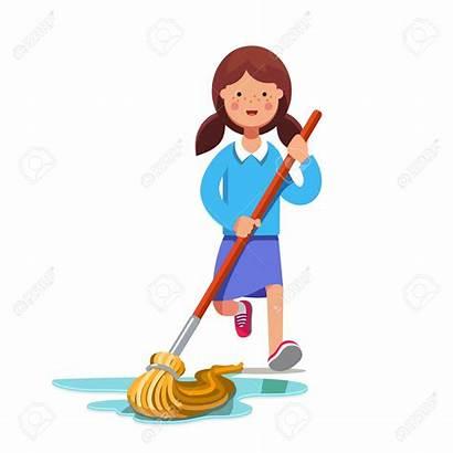Floor Mop Cleaning Broom Wet Kid Dust