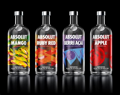 New Packaging For Absolut Flavored Vodka By The Brand