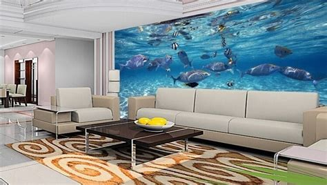 3d Wallpapers For House Walls by 3d Wallpaper Bedroom Mural Roll Modern Luxury Sea World