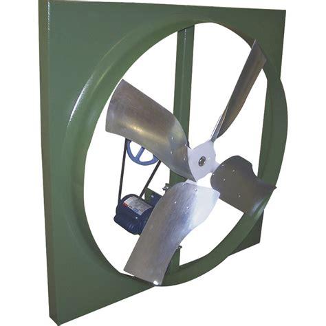 belt drive wall exhaust fan canarm belt drive wall exhaust fan 42in 3 4 hp 14 800