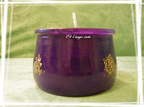 photophore violette photo de la peinture sur verre le
