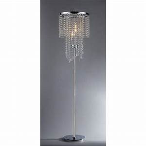 warehouse of tiffany diana 63 in 3 light indoor chrome With 3 light crystal floor lamp