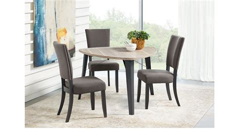evander gray  pc triangle dining set casual