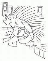 Coloring Porcupine Porcupines Popular Coloringhome sketch template