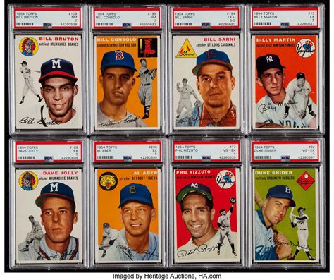 If the item is being appraised for insurance purposes versus resale purposes, this can. 1954 Topps Baseball Near Set (181/250) Plus Eight Sports ...