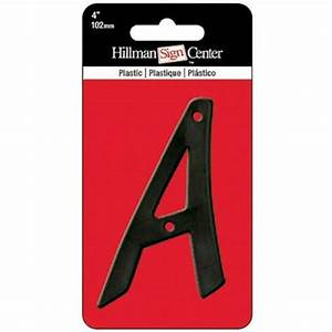 The hillman group 4 in black plastic letter a 842533 for Plastic house letters