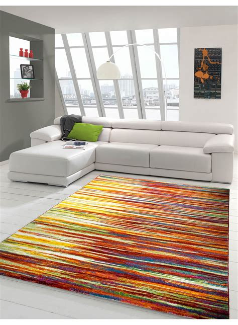 tapis salon tapis de salon rayonara multicolore