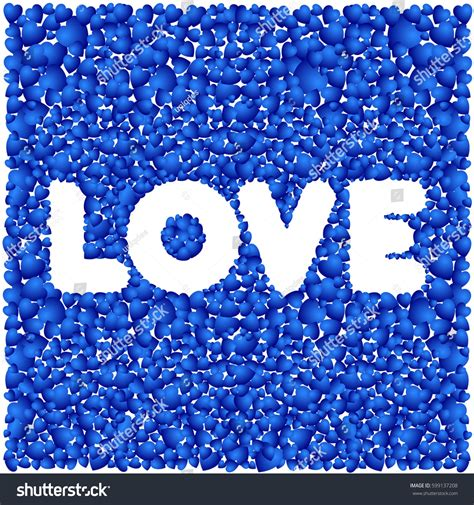love happy valentines day background blue stock vector