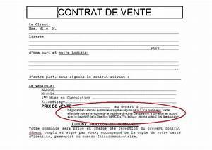 Vente Entre Particulier Objet : modele facture vente voiture occasion professionnel ~ Gottalentnigeria.com Avis de Voitures
