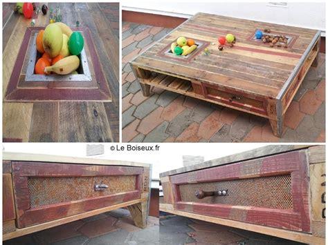 grande table basse palette corbeilles 224 fruits tiroirs grillag 233 s meubles en palette