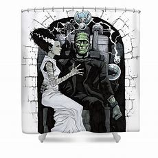 Bride Of Frankenstein Shower Curtain For Sale By Paul Davidson