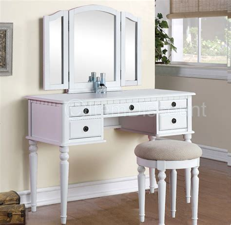 white makeup desk with tri fold white vanity makeup 3 mirror table set dresser