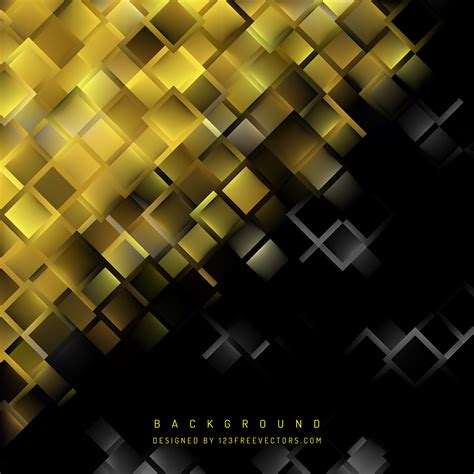 Abstract Black Gold by Abstract Black Gold Geometric Square Background
