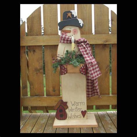 primitive wood pattern snowman digital e by