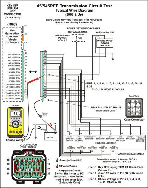 Transmission Wire Diagram by Transmission Repair Manuals 45rfe 5 45rfe