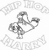 Dancing Rap Ausmalbilder sketch template