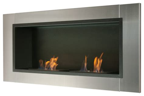 Indoor Biofuel Fireplace - lata wall mounted recessed ventless ethanol fireplace