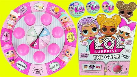lol surprise dolls board game  lil sisters queen bee
