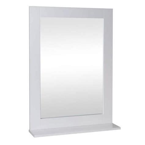 miroir de salle de bain 50 cm laqu 233 blanc brillant