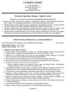 doc 550712 production supervisor resume exle