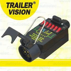 7 Pin Trailer Socket Plug Tester 12 Volt 12v 24v 24 Light