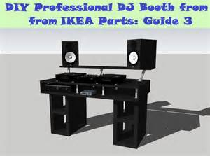 Linnmon Corner Desk Setup by Guide Diy Dj Booth From Ikea Parts Build 3 Youtube