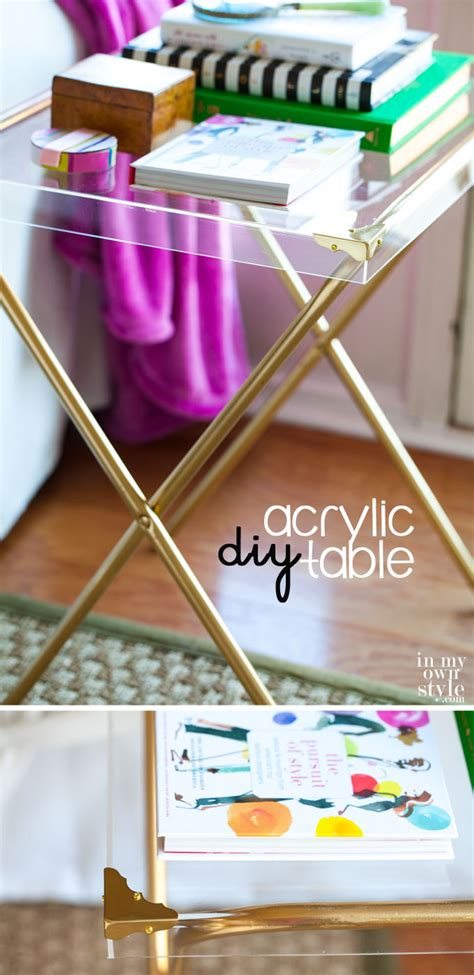repurposed furniture acrylic side table    style