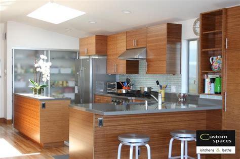 photos of kitchen backsplashes modern carbonized bamboo kitchen with quartz countertops 4163