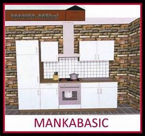 Küchenzeile 2 M : k chenzeile mankabasic 2 k che 270cm k chenblock vanille sonoma eiche m e ger te kaufen bei ~ Markanthonyermac.com Haus und Dekorationen