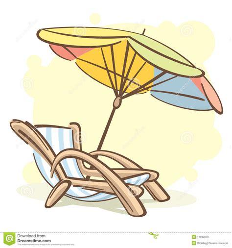 dessin de chaise chaise chaise longue en parasol royalty vrije stock