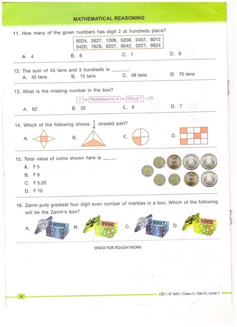 free worksheets for grade 3 imo international maths