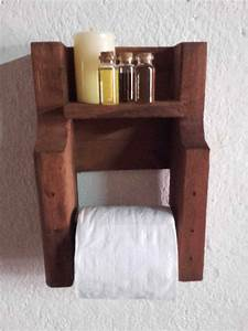 pallet toilet paper holder o 1001 pallets With best brand of paint for kitchen cabinets with paper candle holder