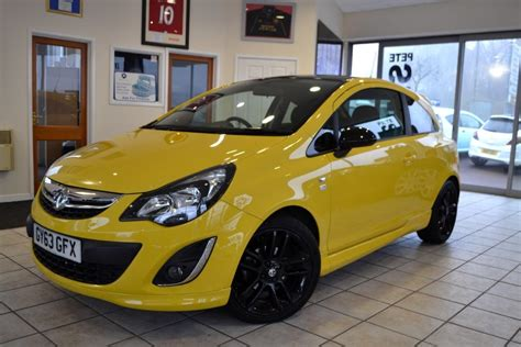 vauxhall yellow used flaming yellow vauxhall corsa for sale gloucestershire