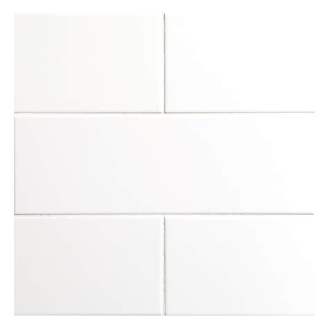 nori ceramic collection tile white gloss 4 quot x 12 quot