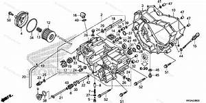 Honda Atv 2015 Oem Parts Diagram For Front Crankcase Cover  1