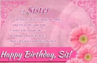Happy Birthday Wishes Sister Quotes