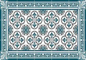 Set De Table Bleu : set de table carreaux de ciment garance bleu canard ~ Teatrodelosmanantiales.com Idées de Décoration