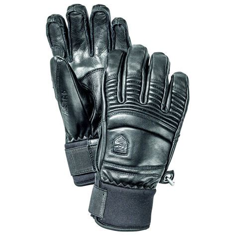 Hestra Mens Leather Fall Line Ski Glove in Black   Mens