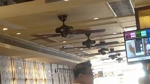 Hunter  U0026quot Savoy U0026quot  Ceiling Fans In A Restaurant