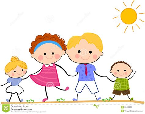 Happy Family Cartoon Clipart