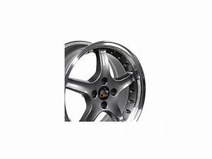 17x8 Wheel Fits Ford® Mustang® - 4-Lug Cobra R Style Anthracite Rim - Newegg.com