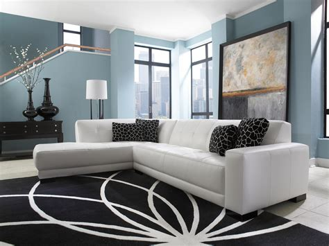 white sofa living room ideas mid century white leather tufted sectional chaise lounge