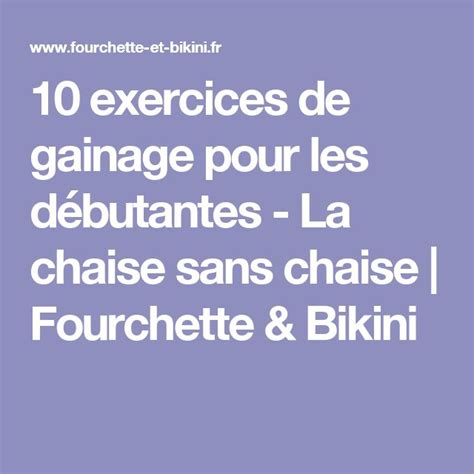 1000 ideas about exercices de gainage on pinterest