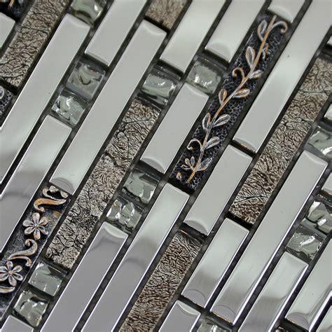 Kitchen Backsplash Stickers by Glass Mosaic Tiles Tile Bathroom Wall