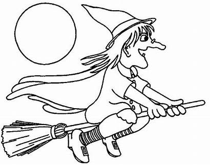 Witch Coloring Moon Pages Place