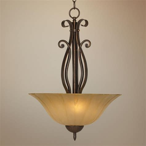 franklin iron works scavo glass pendant chandelier