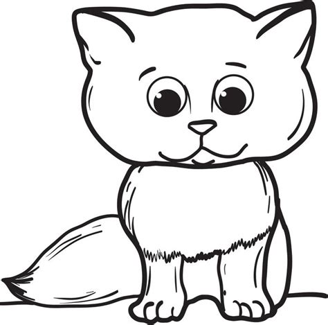 Free, Printable Cartoon Cat Coloring Page For Kids
